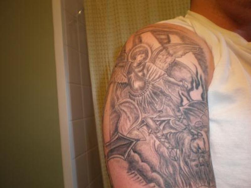 Black White Religious Tattoos