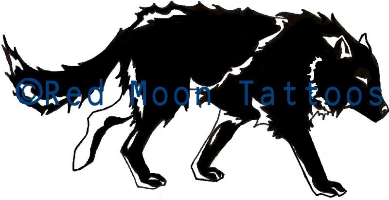 Black Wolf Tattoon