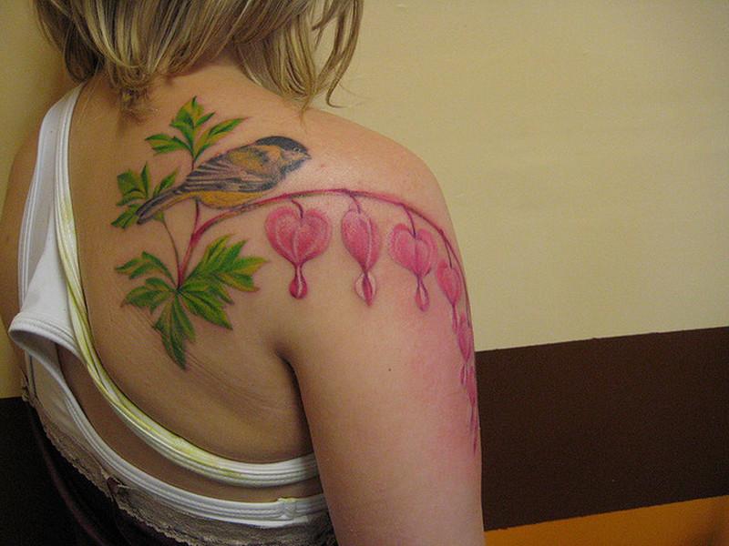 Bleeding Heart Flower Tattoo Pictures