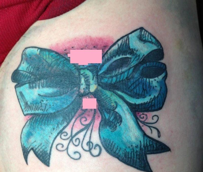 Bow Tie Tattoos On Legs