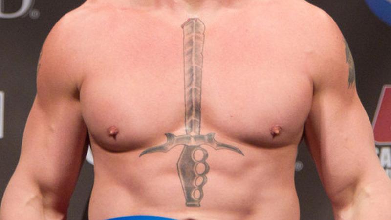 Brock Lesnar Tattoo Sword