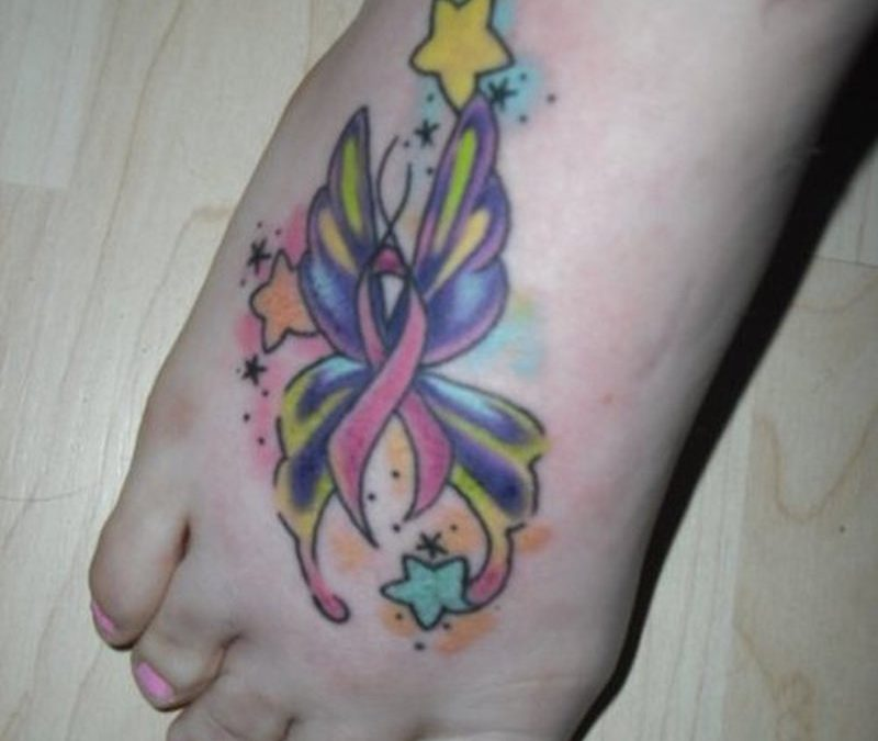 Cancer Ribbon Tattoos Pictures 2