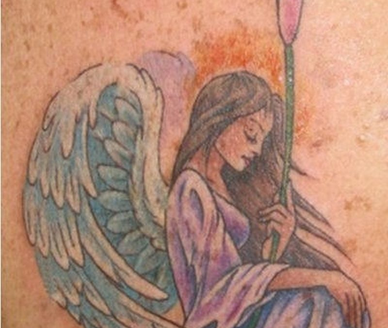 Colorful Angel and Butterfly Tattoo1