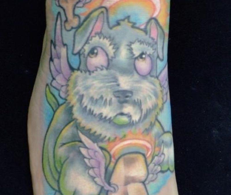 Colorful Dog Tattoo
