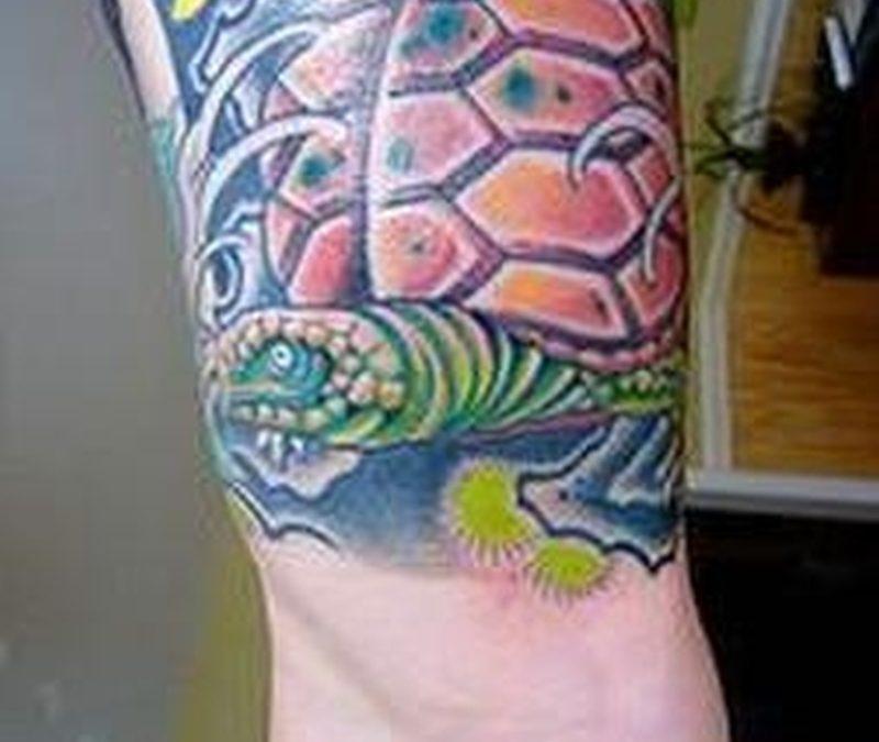 Colorful Turtle Tattoo
