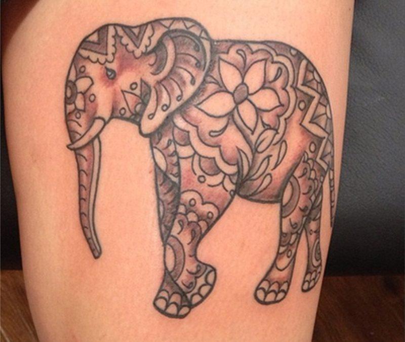 Fine Elephant Tattoo