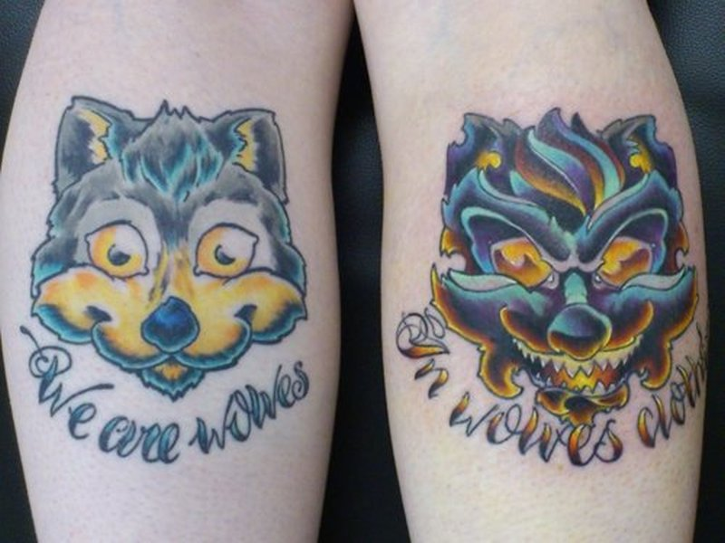 Good And Bad Wolf Tattoo