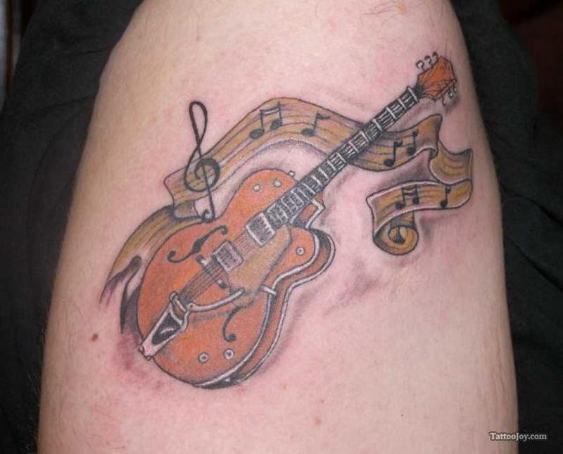 Guitar Music Note Tattoos