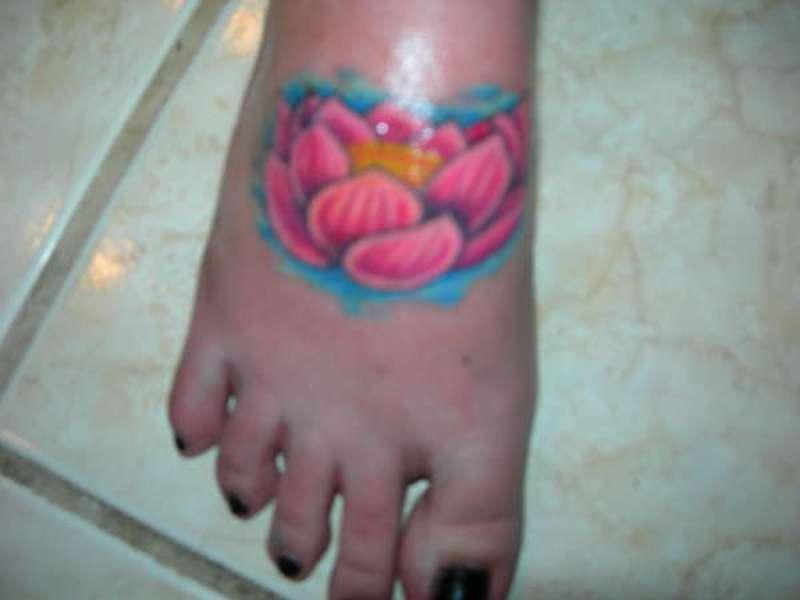 Lotus Flower Tattoos Foot