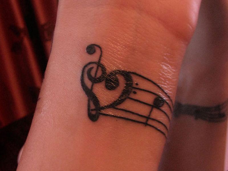 Music Clef Heart Tattoos