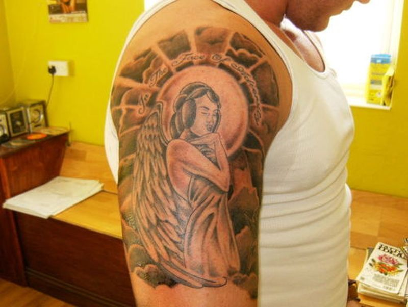 Religious Half Sleeve Tattoos Designs
