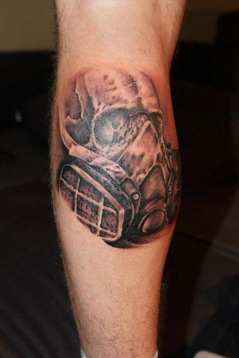 Skull Calf Tattoos For Men