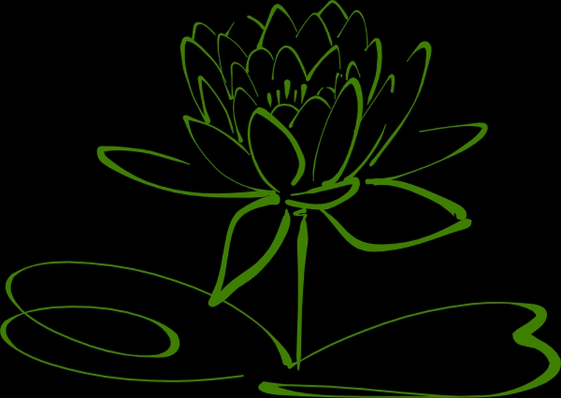Small Lotus Flower Outline Tattoo