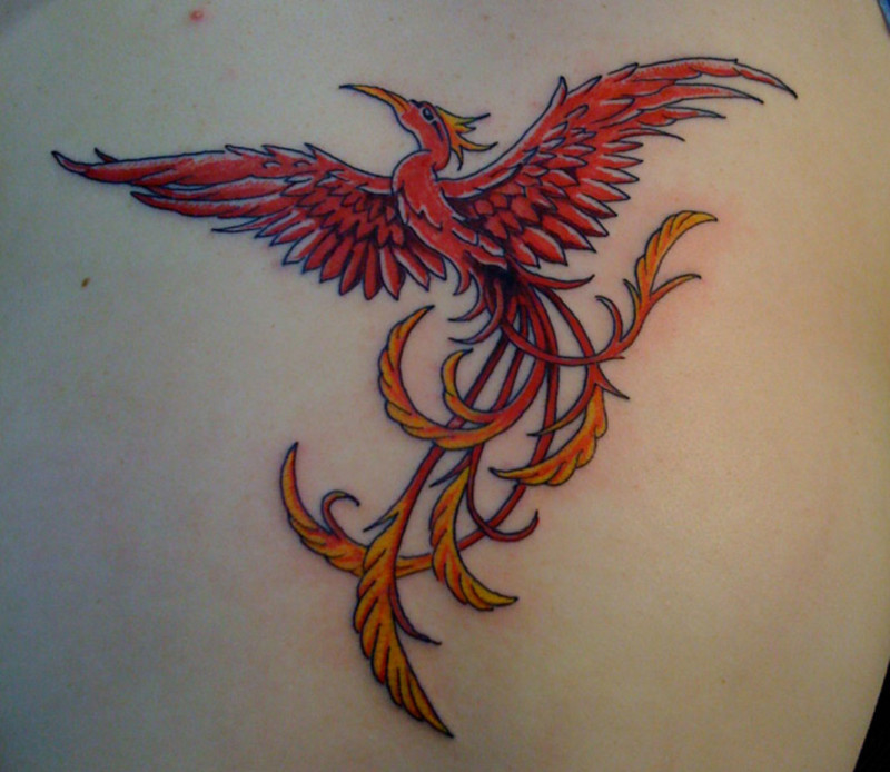 Small Phoenix Tattoos For Women