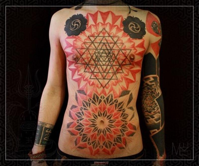 Solid Black Sleeve Tattoo
