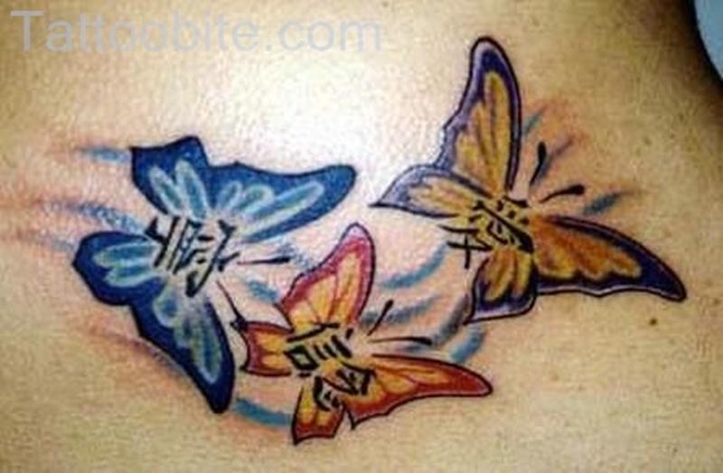 Three Butterflies Tattoo