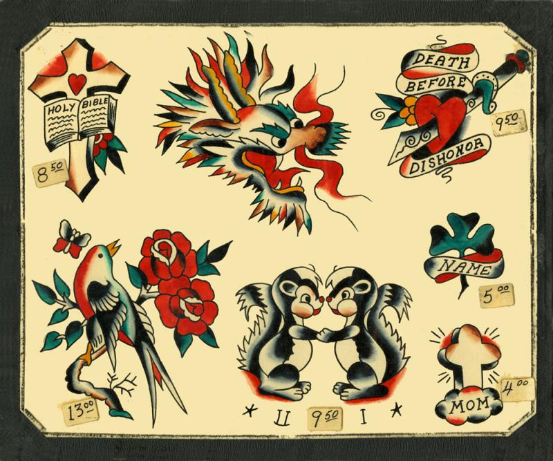 Vintage Flash Tattoo Designs