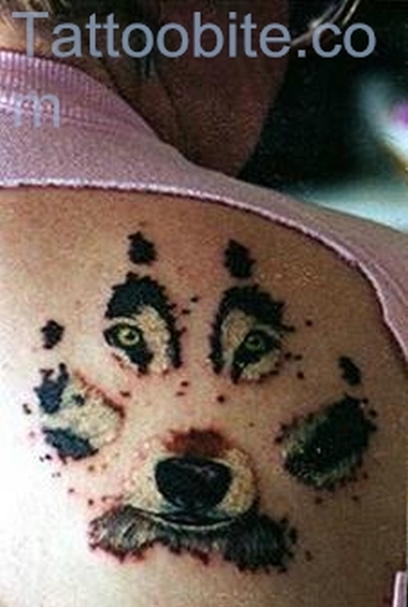 Wolf Patches Tattoo