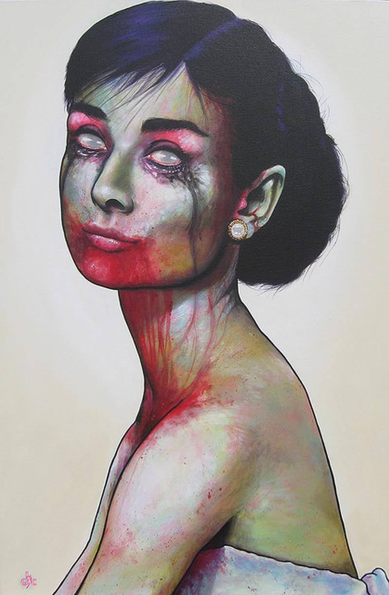 Zombie Audrey Hepburn Tattoo