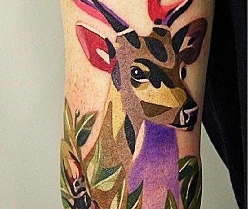 A deer tattoo
