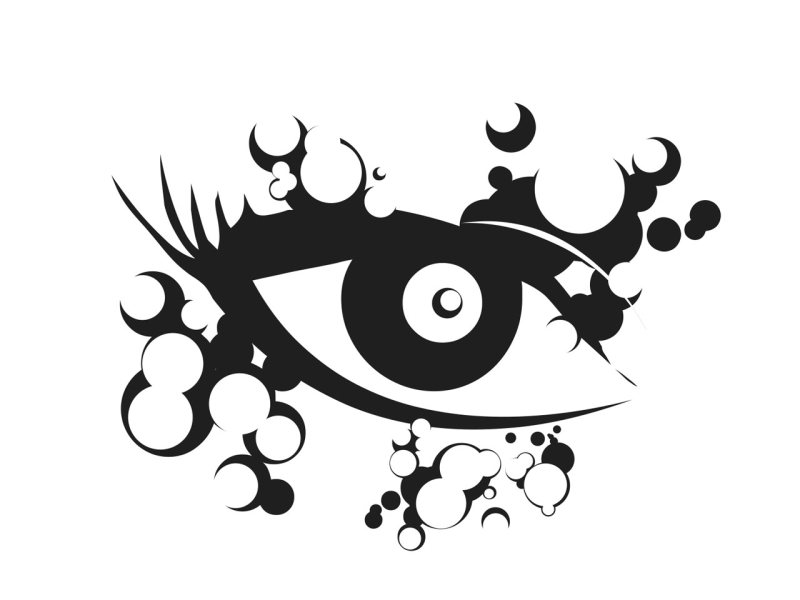 Abstract eye tattoo sample
