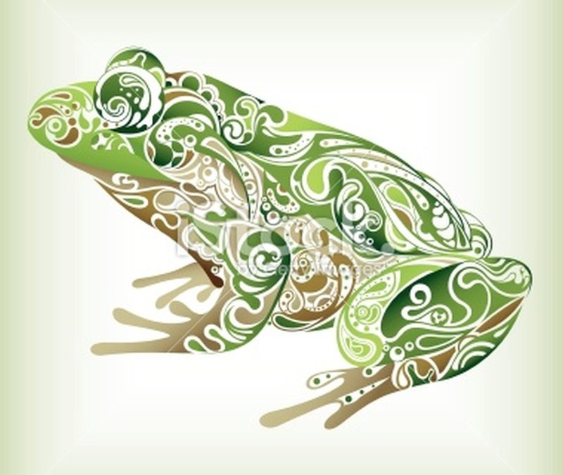 Abstract frog tattoo sample
