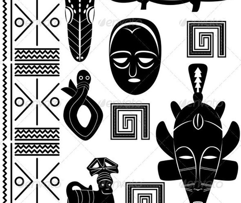 African ornaments tattoo