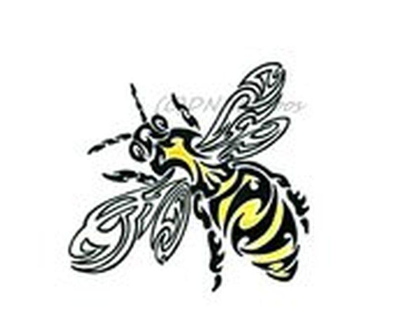 Amazing tribal bee tattoo design