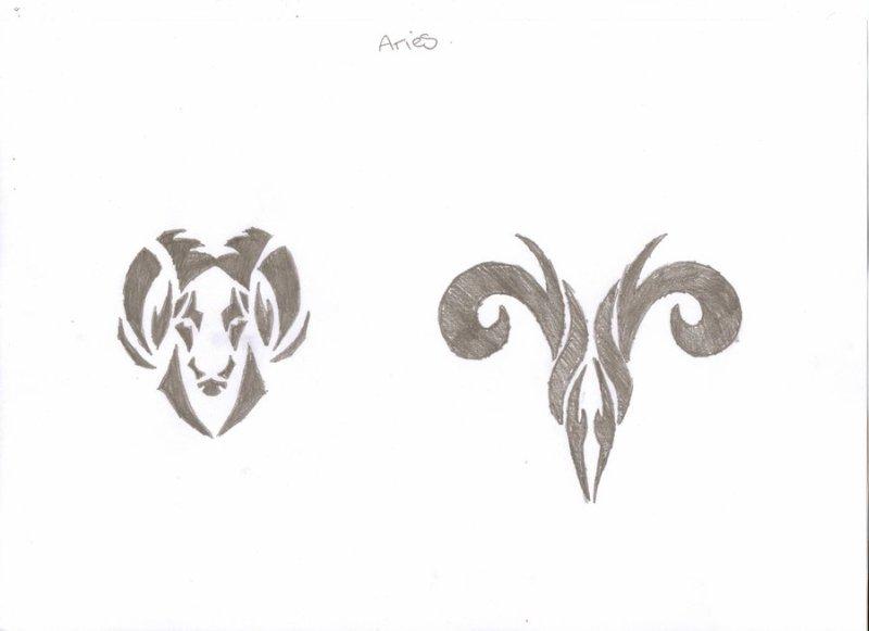 Amazing zodiac aries tattoo design