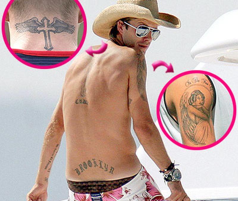 Angel tattoo design on david beckhams arm