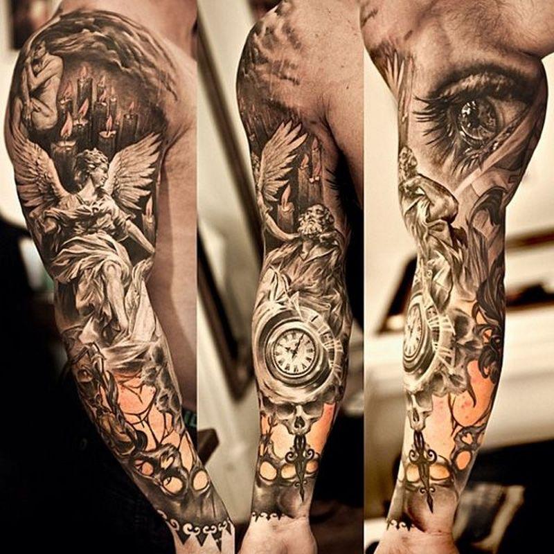 Awesome full sleeve tattoo