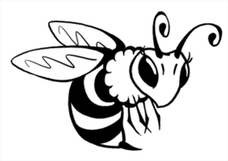 Awesome honey bee tattoo design