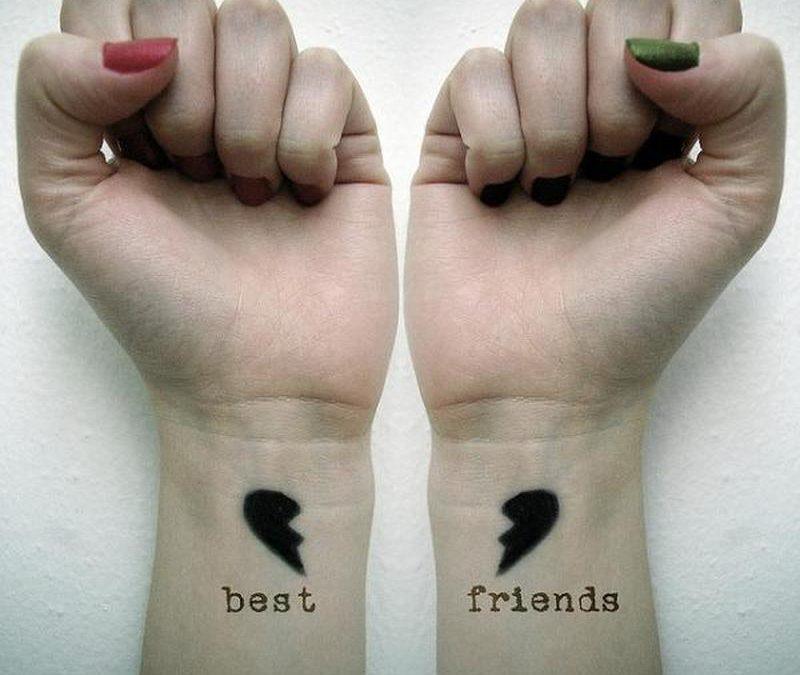Best friends tattoo on wrist