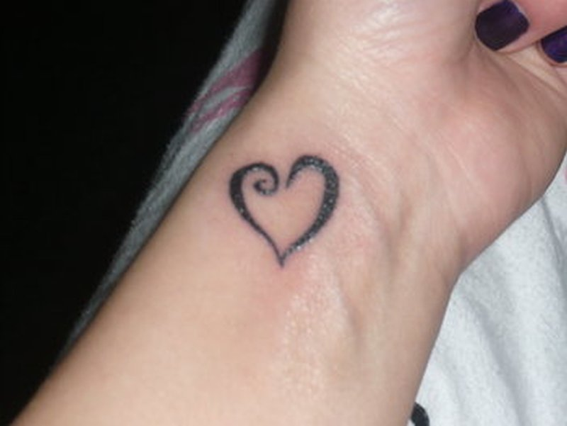 Best heart tattoo design for wrist