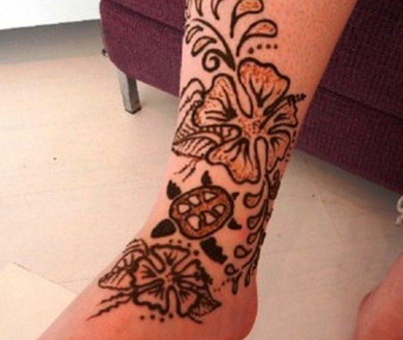 Best henna tattoo design on foot