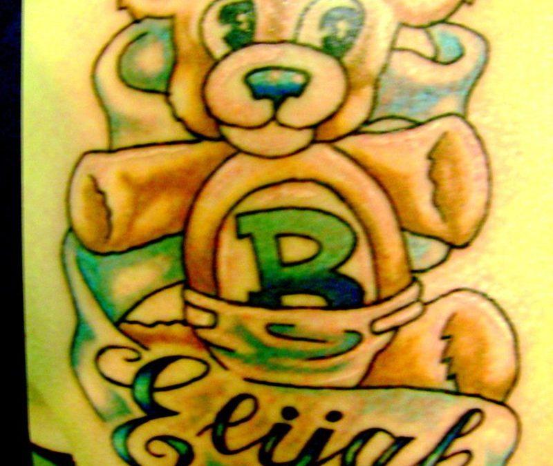 Best teddy bear tattoo design