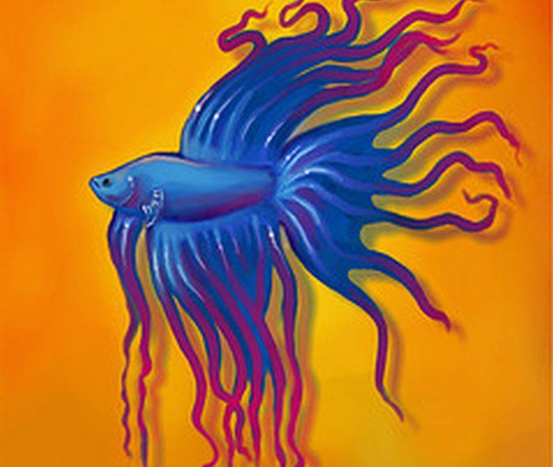 Betta fish tattoo poster