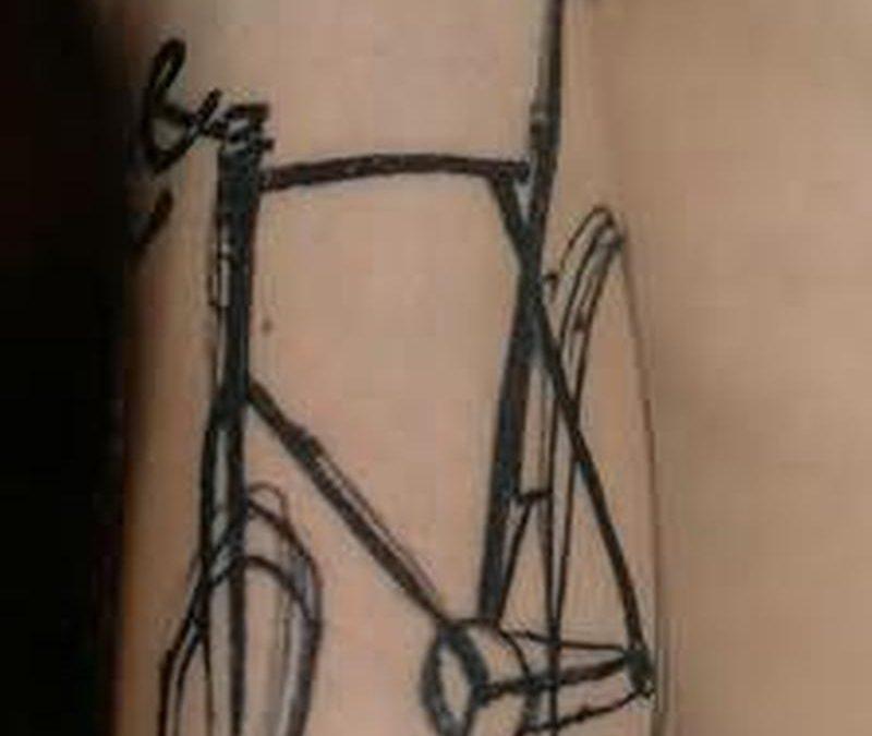 Biceps bike tattoo