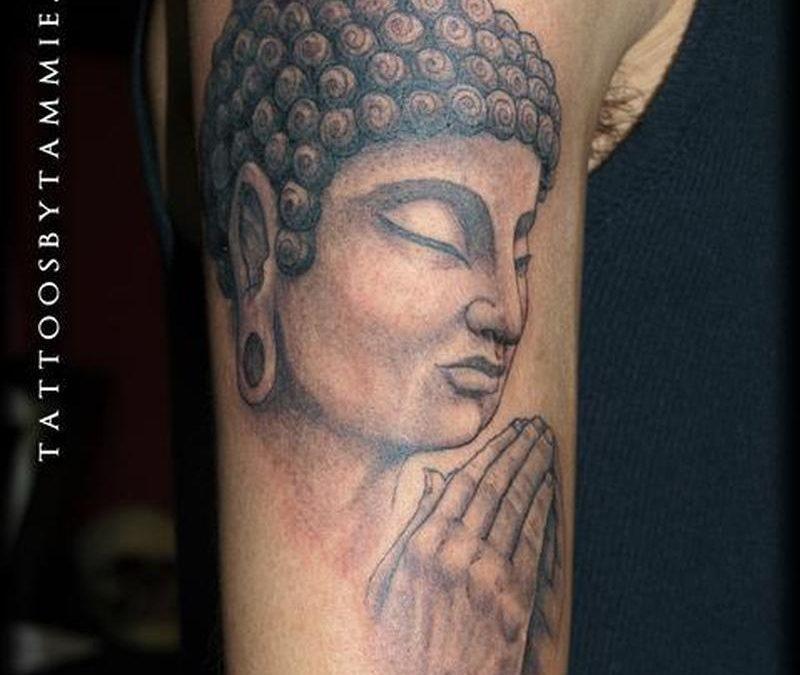 Biceps buddha tattoo design