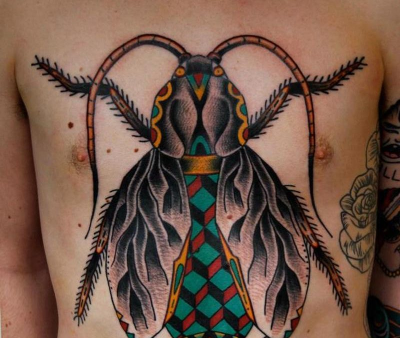 Big bug tattoo for chest