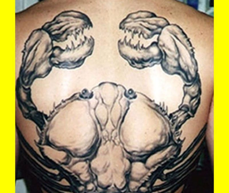 Big cancer tattoo image