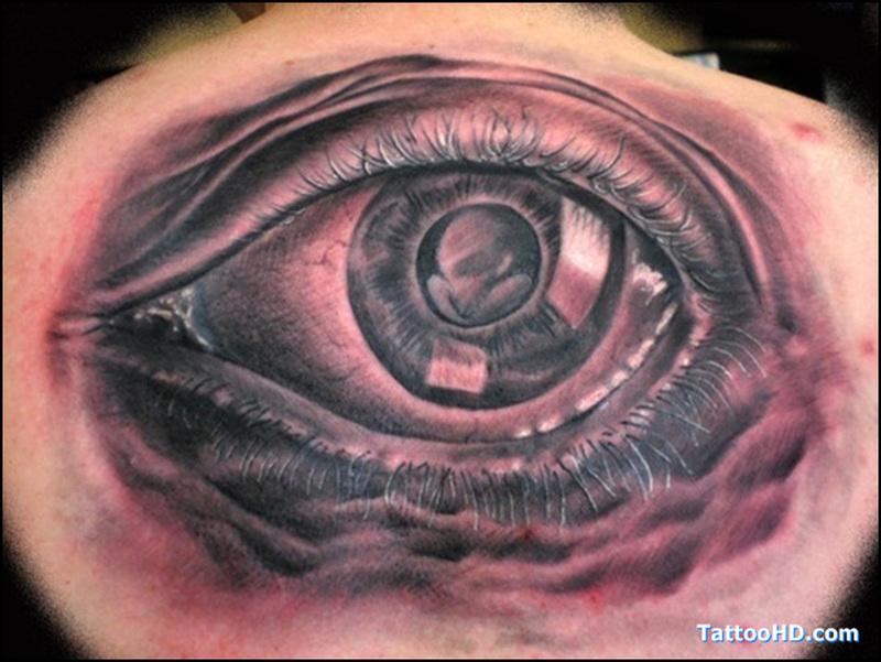 Big eye tattoo design