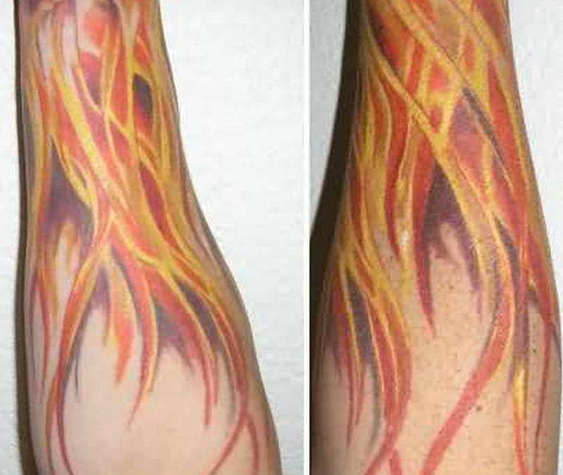 Big flames tattoo design