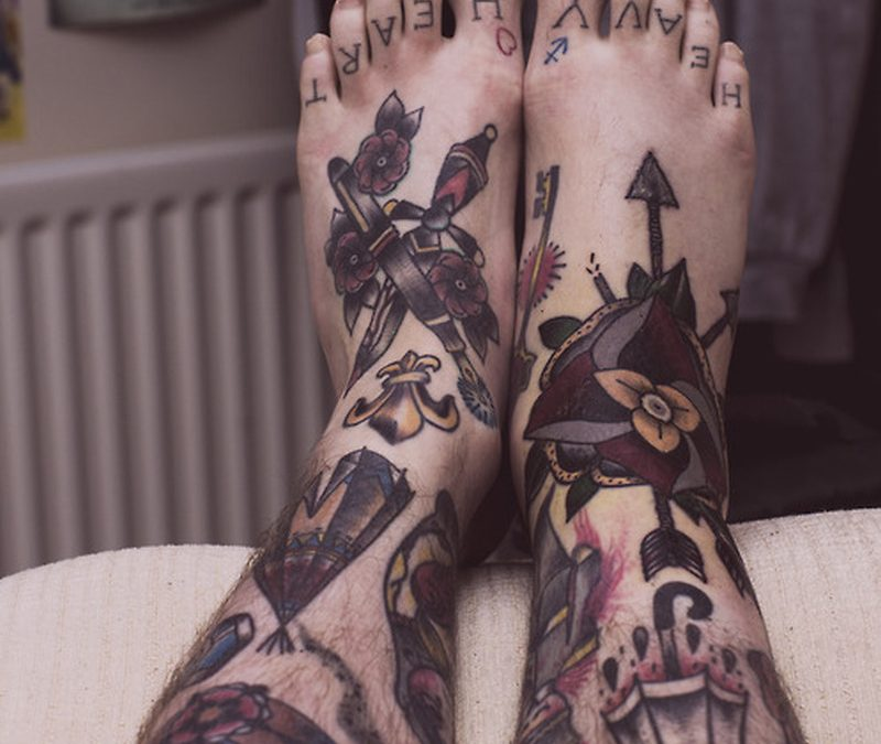 Big tattoo for leg ankle