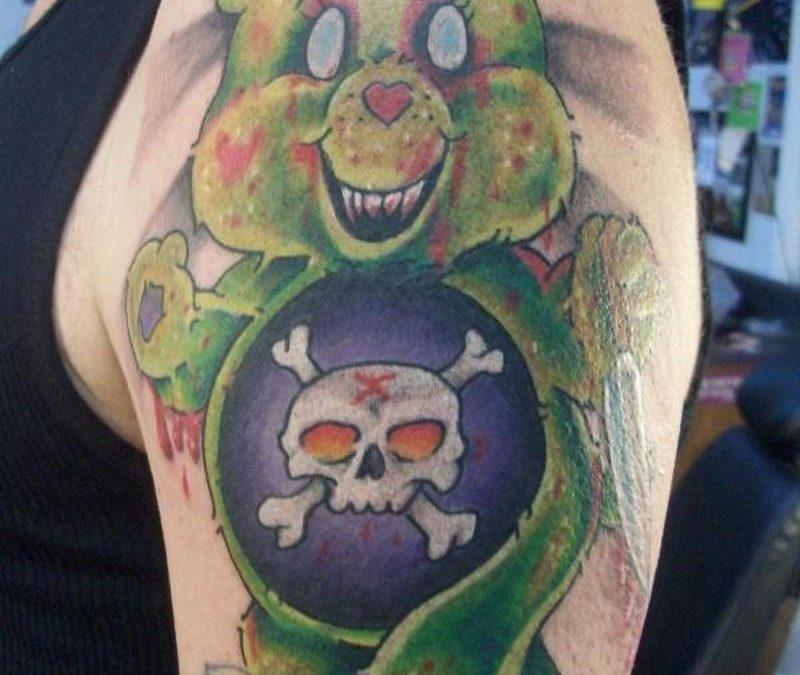 Bio organic bear tattoo design