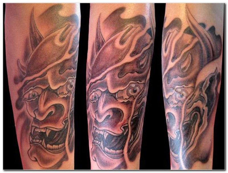 Biomechanical demon face tattoo design - Tattoos Book - 65 ...