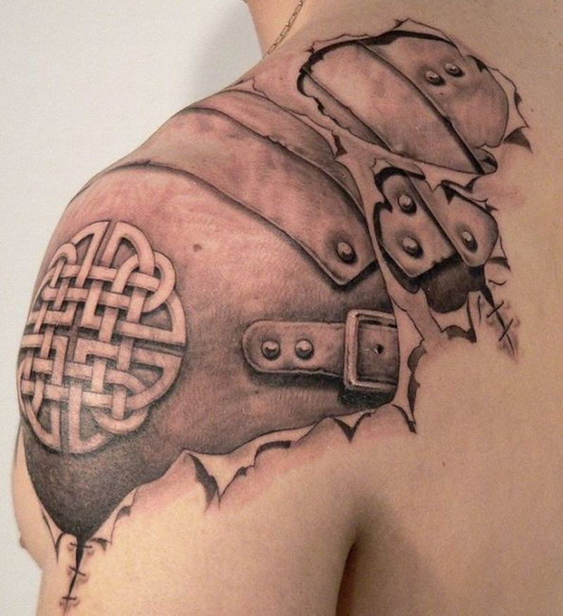 Biomechanical shoulder tattoo