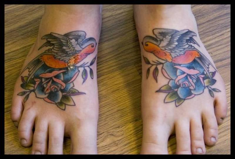 Bird feet tattoo picture