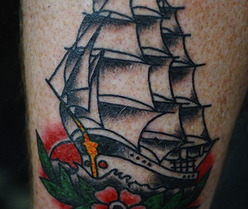Black anchor tattoo denton
