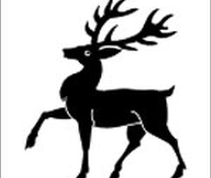 Black deer tattoo sample